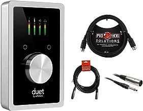Apogee Electronics Duet USB Audio Interface with 6ft MIDI Cable, 20' XLR-XLR Cable & XLR-TRS Cable Bundle