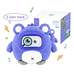 【Professional Design】Woobo plush interactive robot toy is co-designed by a group of outstanding engineers, designers and educators from world-famous institutes - MIT, CMU, Harvard and IRSD. 【Songs, Stories & Games】Woobo is a cuddly companion. Enjoy 3...