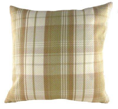 Homestreet Stirling Coussin carré en laine Motif tartan 43 cm