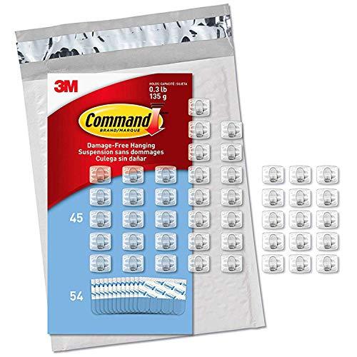 3M コマンド フック キレイにはがせる 両面テープ コード用 クリア ミニサイズ お買い得パック 45個 CL806-45NA