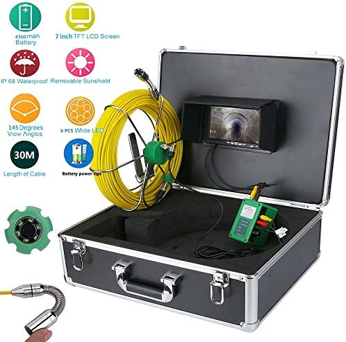 Ennio Pipe Inspection Video Camera 30M IP68 Waterproof Drain Pipe Sewer Inspection Camera System product image