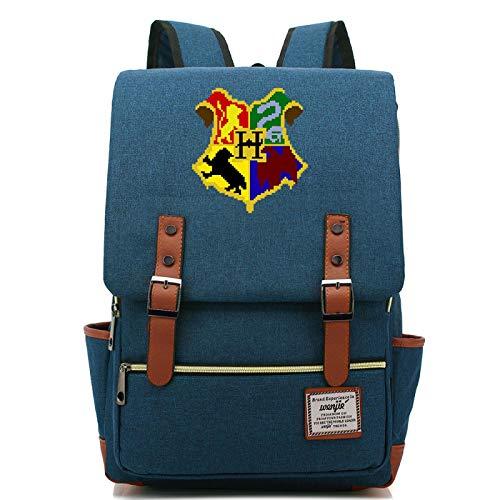 MMZ Mochilas Unisex, Mochilas temticas de Hogwarts, Mochilas Escolares de Gran Capacidad para escuelas primarias y secundarias 43X29X13.5CM Azul Marino