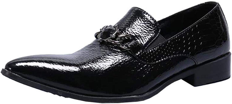 Mnner Textur Spitz Oxfords Business Casual Loafers Formelle Slip-On Kleid Schuhe PU Leder Langlebig Abriebfest