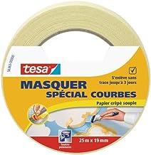 Tesa 56362-00003-02 Maskeertape voor Curves Lines, beige, 25 m x 19 mm