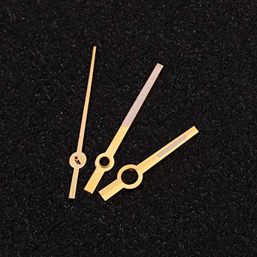 Manecillas del reloj Accesorio de reloj de peso ligero Reloj de mano de hora Reloj de mano de minutos Reloj de segunda mano Seguro para movimiento ETA2824(Golden)