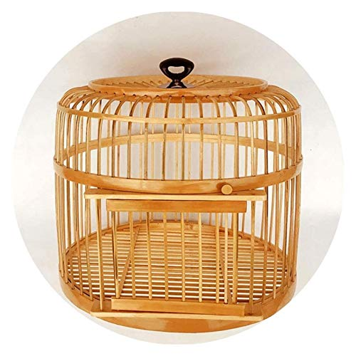 Las jaulas de aves para Budgie y varios pequeños Bird La jaula de pájaros hecho a mano del pájaro del loro gran jaula del loro Canarias jaula de pájaros Adecuado for cría de aves alimentos for mascota