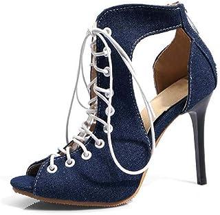 Women's Shoes Sandals Super High Heel Sandals,Blue,35