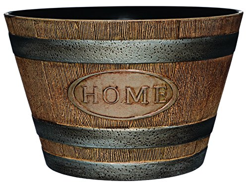 Classic Home and Garden 70 Whiskey Barrel, 15' -'Home, Distressed Oak
