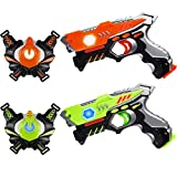 HISTOYE Lazer Laser Tag for Kids Adults Laser Tag Sets with Gun and Vest Laser Guns Toys for 5 6 7 8 9 10 11+ Year Old Boys Girls Age up Party 2 Multiplayers Indoor Outdoor Battle Games