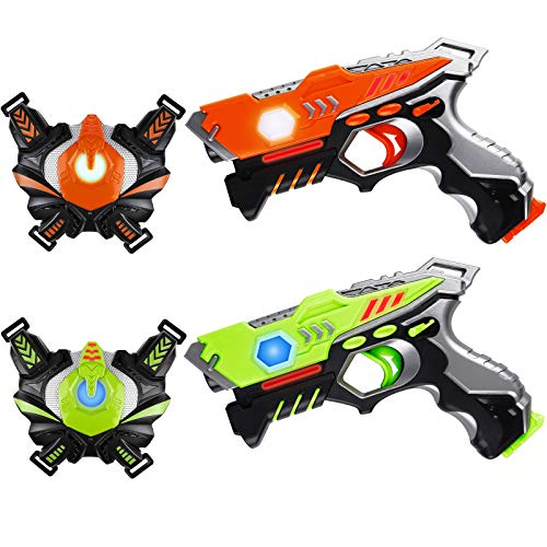 HISTOYE Lazer Laser Tag for Kids Adults Laser Tag Sets with Gun and Vest Laser Guns Toys for 3 4 5 6 7 8 9 10 11+ Year Old Boys Girls Age up Party 2 Multiplayers Indoor Outdoor Battle Games