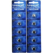 Loopacell 1/3N CR1/3N 3V Lithium Battery for Weapon Mounted Lights Scope Sight Tactical Tools Pack of 10