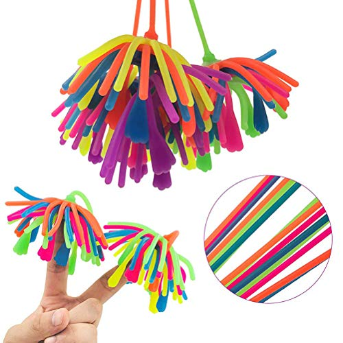 Borstu Stress Balls 6 Piezas Soft Stretchy Creative Noodle Ball Anti Stress Balls Stress Reliever Toys Gift Toys