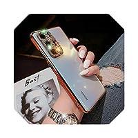 For Huawei mate30 Pro mate30Lite携帯電話ケース携帯電話ファッションケース用電話ケースラグジュアリーアンチフォールカバーギフトガール-orange-p40