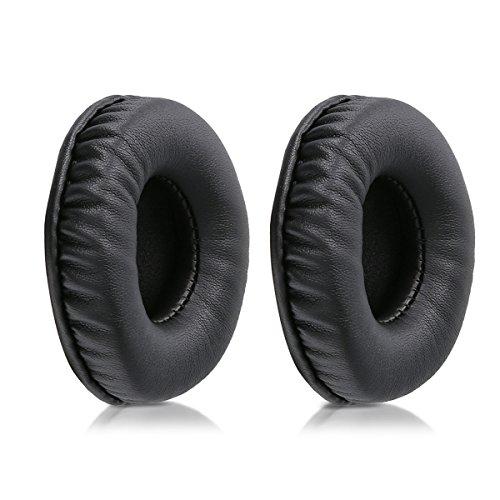 kwmobile 2X Almohadillas para Auriculares Compatible con Sennheiser HD25 /HD 25-1 II /PC150 /PC151 /PC155 - Almohadilla de Cuero sintético para Cascos