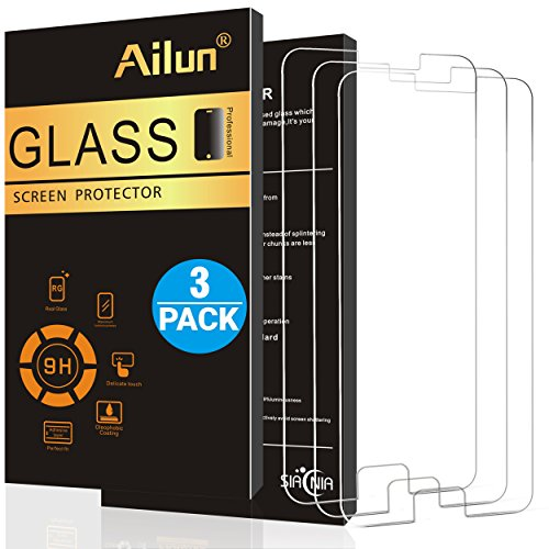 Ailun Screen Protector Compatible with Galaxy S6 3Pack Tempered Glass Compatible with Galaxy S6 2.5D Edge Anti Scratch Case Friendly Siania Retail Package