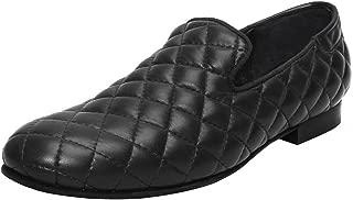 Bareskin Black Color Hand Finished Genuine Leather Diamond Stitched Loafer Shoes for Men