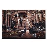 Chtshjdtb Peaky Blinders Criminal Gangster Serie De Tv Póster E Impresiones Arte De La Pared Pintura Imágenes Decoración Del Hogar Regalos-60X100Cm Sin Marco