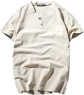 LUKEEXIN Summer Linen Short-sleeved T-shirt Men's Cotton And Linen Half-sleeved Men's Short-sleeved T-shirt