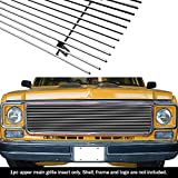 85 chevy truck gauges - APS Compatible with 1973-1980 Chevy C K Pickup Suburban Blazer Main Upper Billet Grille C85008A