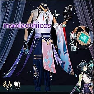 和顺の动漫原神(Genshin) ごほう夜叉 ウェンティ魈 コスプレ衣装 (S, 男)
