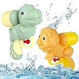 O-Kinee Pistola de Agua, 2 Piezas Pistola de Agua de Juguete, Water Gun, Pistola de Agua de Dibujos Animados, Juguetes Piscina Water Gun, para Batalla de Agua, Playa, Piscina (Dinosaurio león)