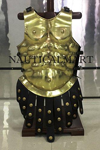 NAUTICAL MART Disfraz de armazón muscular griego de latón para Halloween – Placa de pecho griega, talla única