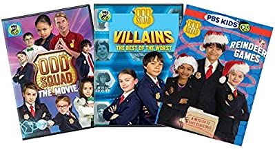 Ultimate PBS Odd Squad 3-DVD Learning Collection: Dance Like Nobody's Watching / Villains: the Best of the Worst / Reindeer Games [Educational]
