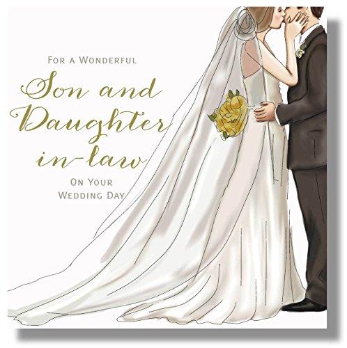 Grote luxe trouwkaart - zoon en dochter in de wet