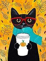 数字で描くDiy絵数字で描くかわいい猫手作りの絵の具アクリル絵の具家の装飾油絵