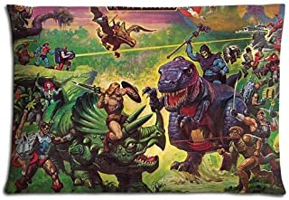 WarmHome Custom He-Man and The Masters of The Universe Home Decorative Soft Throw Pillowcase Cushion Custom Pillow Case Cover Protecter with Zipper Standard Size 20x30 Inches Two Sides Printed