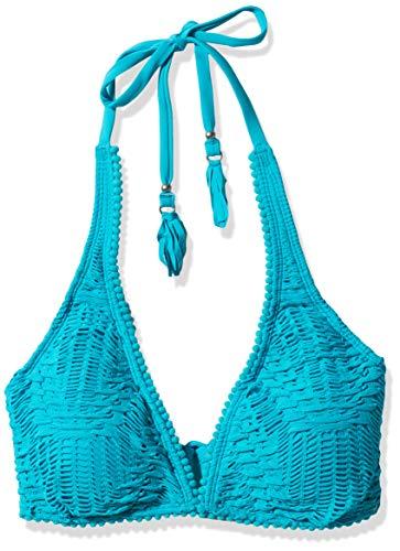 Coco Reef Damen Bikini Top Swimsuit with Crochet Bikinioberteil, Pura Vida Aquamarine, 80D/85D