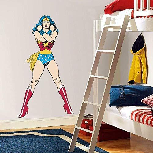YJYG Pegatinas de pared Heroine Classic Calcomanía Desmontable Gráfico Adhesivo de Pared Art Deco Mega Halloween gift 60 * 90cm
