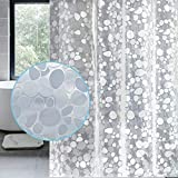 LEMON CLOUD Cortina Baño, Impermeable, Antimoho, Antibacteriano (3D PEVA Guijarro Transparente,...