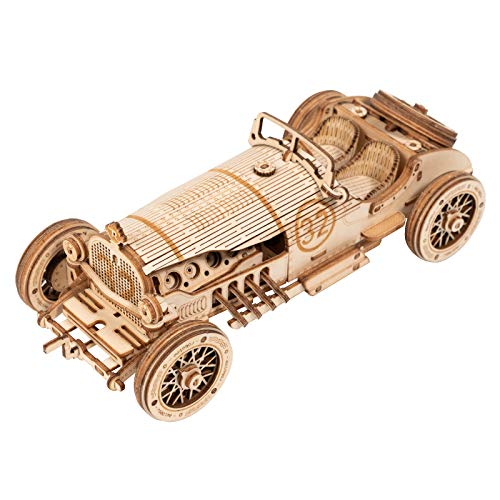 ROKR 3D Wooden Puzzles for Adults Mechanical Models Kits to Build (Grand Prix Car)