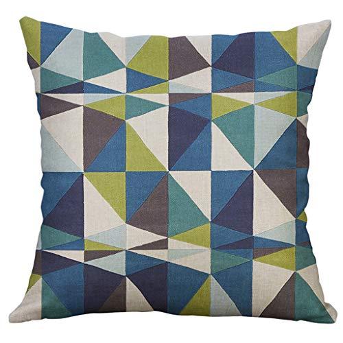 GOKOMO Copricuscino Quadrata colorato, Federa per Cuscino Forma Geometrica Irregolare Federa per Cuscino 60x60cm(A,60x60cm)