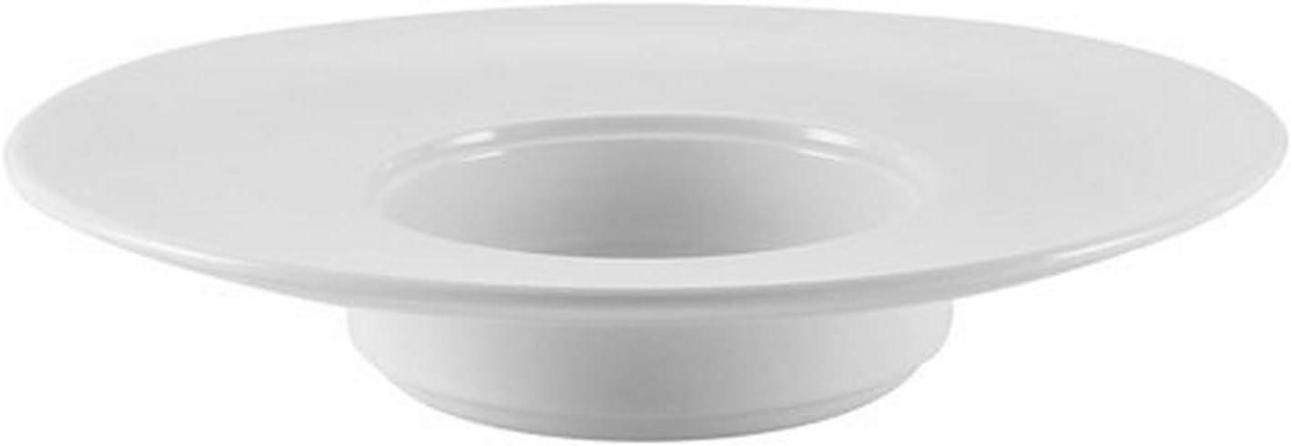 CAC China RCN-310 Clinton 7 Brand Cheap Save money Sale Venue oz Round Wide Rim Pasta Bo Porcelain