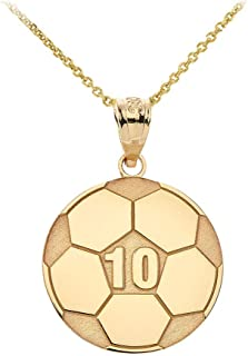 gold soccer ball necklace