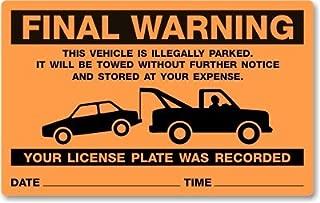 parking permit sticker holder