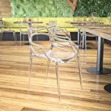 Flash Furniture Nesting Series Transparent Stacking Side Chair