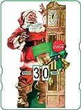 Calendario perpetuo Vintage CocaCola 'Santa & Pendulum Clock'
