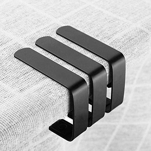Mumusuki Clips de Mantel Clips de Mesa de Picnic, 4 Piezas Clips de Cubierta de Tela de Mesa Grandes Abrazaderas de Soporte de Mantel Antideslizante de Acero Inoxidable para mesas de Picnic 5 * 4 cm