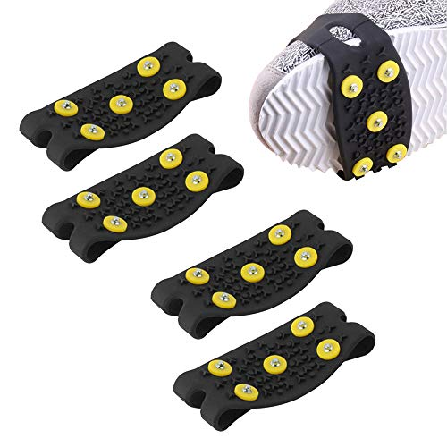 LERTREE 2 Pairs Anti Slip Mountaineering Climbing Crampon Spikes Shoes Ice Gripper Shoes Covers