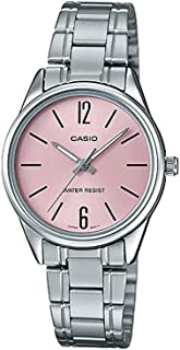 Casio Watch For Women Quartz, Analog Display and Stainless Steel Strap LTP-V005D-4BUDF