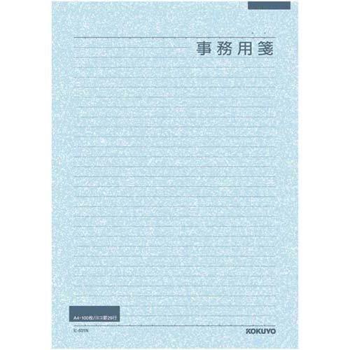 コクヨ 事務用箋A4横罫29行 上質紙100枚×5