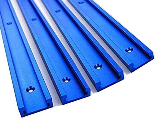 T-Schienen Holzbearbeitung T-slot Track Gehrungsvorrichtungs Befestigungs Schlitz,T-Nut Schiene Aluminium Werkzeuge für Holzbearbeitungs Fräser Blau 300mm