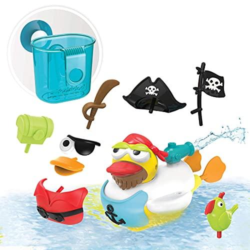 YOOKIDOO - Canard de Bain Pirate - Jouet Bain Enfant - Jeu Eveil Bébé -Canard Plastique Bain et Piscine – Se Déplace tout en Emettant un Jet D'Eau - Animaux Plastique Bain - Cadeau Enfant 2 à 6 ans