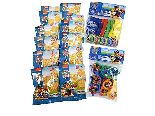 Paw Patrol Birthday Party Supplies Including Cookies and Toys for 12 Guests