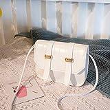Mdsfe Bolsos Cruzados de Piel sintética de Color sólido con patrón de cocodrilo pequeño para Mujer, Bolsos de Hombro de Verano 2020 para Mujer, Bolsos Simples para Mujer - B Blanco, a1