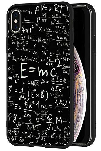 Mixroom - Cover Custodia in Silicone TPU Nero Opaco per iPhone 6 Fantasia Formule ALGEBRICHE di Matematica 745