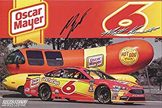 AUTOGRAPHED 2018 Matt Kenseth #6 Oscar Mayer Racing Team WEINERMOBILE (Roush Fenway Racing) Monster Energy Cup Series Signed Collectible Picture NASCAR 5X7 Inch Hero Card Photo with COA